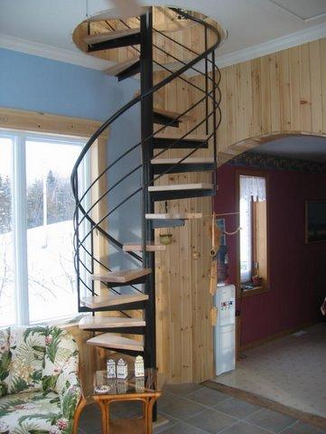 escalier interieur circulaire